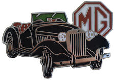 MG TD car cut out lapel pin - Black body