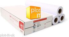 """3 ROTOLI CARTA PLOTTER DESIGNJET 80g/m² 610mm x 50m 24"""" per Designjet & Canon IPF"""