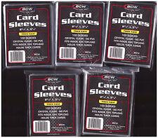 500 BCW Baseball Football Basketball Hockey Trading Card Plastic Sleeves NewY