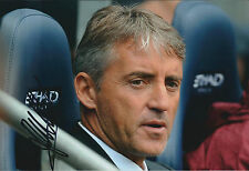 Roberto MANCINI SIGNED Autograph 12x8 Photo AFTAL COA Manchester City MANAGER