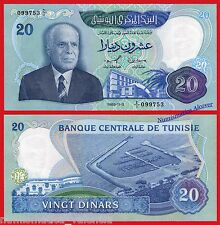TUNEZ TUNISIA 20 Dinars dinares 1983 Pick 81  SC / UNC