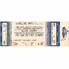 ALICE COOPER & DOKKEN & WARRANT & SLAUGHTER Concert Ticket Stub 8/29/97 SHORLINE