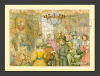 Art Gallery Parlor Exhibit * Old English 1830s England ANTON PIECK * Art Print