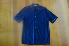 MENS FARHI SHORT SLEEVE SHIRT SIZE S/M NAVY BLUE COLOUR