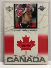 2004 UD Toronto Fall Expo  Pride of Canada #3 Jose Theodore /75 World Cup NM-MT