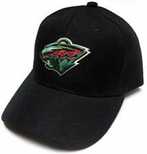 Minnesota Wild NHL Reebok Basic Black Structured Hat Cap Adult Men's Adjustable