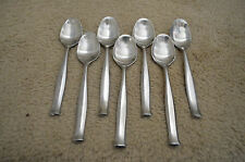 Oval Place Soup Spoons ELSINORE Dansk Stainless Satin Flatware Korea Lot of (7)
