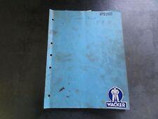 Wacker Vibrations Platte DVPN 3000 Instruction Buch und Ersatzteilliste