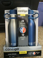 Contigo AUTOSEAL 20 Ounce Stainless-Steel Water Bottle, 2 Pack,