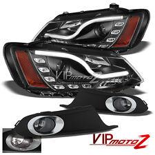 {BLACK} Halo Projector L+R Headlight+Fog Light 2011-2014 VOLKSWAGEN VW JETTA MK6