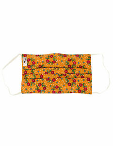 Mio Yellow Flower Garland Cotton Face Mask One Size