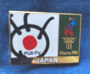 Atlanta 1996 Olympic Games FUJI TV Japan Television Media Pin