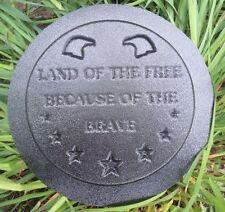 Concrete plaster patriotic mold Land of the Free eagles plaque plastic mould