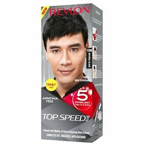 Revlon Top Speed Hair Color, Natural Black 70M, 100 g