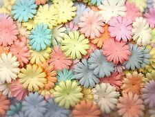 50 Mixed Pastel Color Daisy Flowers mulberry paper for Craft & DIY
