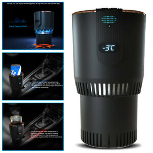 Car Heating Cooling Cup Holder 2-in-1 Office Cup Warmer Cool Smart Truck Cup 12V