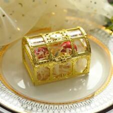 20pcs Gold Top Grade Treasure Box Plastic Wedding Gift Boxes Jewellery Boxes