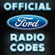 Código de radio Ford V M Sony Visteon Enfoque Fiesta Ka Transit Van códigos de clave de serie