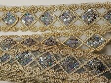 hologram grey sequin gold lace applique motif venise dress dance costume