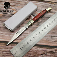 Blade Knives Pocket Folding Knife Camping Survival Knives Wood Handle Sharp EDC