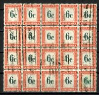 South Africa Stamps # J50 VF STRIKING BLOCK OF 20