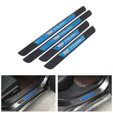 4PCS Black Rubber Car Door Scuff Sill Cover Panel Step Protector For Cadillac