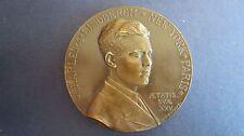 Medaille  Bronze Transatlantikflug von Lindbergh 1927, 68 mm in vz+ (J73)