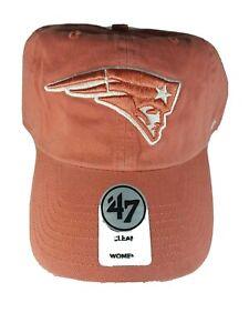 Patriots New England Hat Cap Woman's NFL '47 Clean Up Brand NE Strapback