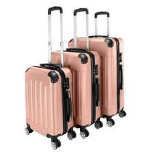 3x Travel Spinner Luggage Set Bag ABS Trolley Carry On Suitcase w/TSA Rose Gold