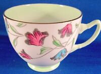 Adderly Bone China Teacup (#158) Pink & Blue Flowers - Green Shading - England