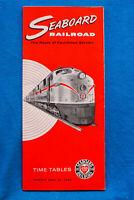 Seaboard Railroad Time Table - Apr 29, 1962