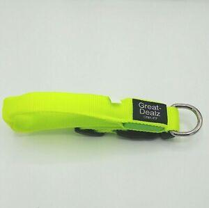LED Dog Collar to Keep Your Dog Safe. Flashing Dog Collar with Batteries.