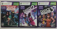 USED Kinect Dance Central 1, 2 & 3 Xbox 360 Game (Lot of 3 Bundle) Free Shipping