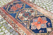 Marvelous Antique Rare Awesome Caucasian Collector's Piece Fragment Kazak Rug