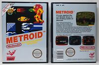 Metroid 1 Original Cover - Nintendo NES Custom Case - *NO GAME*