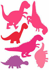 t shirt transfers . iron on  set of PINK DINOSAURS *FOR BAGS , CLOTHES ,