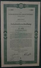 Vorarlberger Kraftwerke-Aktiengesellschaft Serie 59 5% Anleihe 1000 CHF 1930