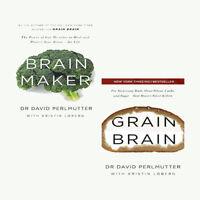 Grain Brain and Maker David Perlmutter Collection 2 Books Set NEW Paperback