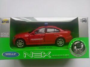 WELLY BMW 330i FIRE BRIGADE 1:34 DIE CAST METAL MODEL NEW IN BOX FEUERWERH