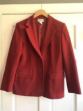 K5 Pendleton 2 Button Red Blazer Jacket Wool Blend Womens Size 14