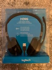 Logitech - H390 USB Headset with Noise-Canceling Microphone, Black, FREE 2nd DAY