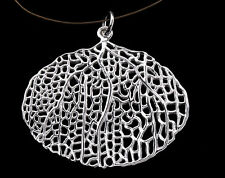 925 Sterling Silver Coral Pendant 35x26 mm.Polish Finished
