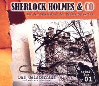 SHERLOCK HOLMES & CO - DAS GEISTERHAUS (UND WEITERE ABENTEUER) 3 CD NEU