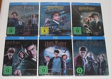 Harry potter 1-6 blu ray steelbook steelbooks-allemand-neuf + scellé allemagne