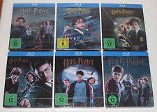 Harry Potter 1-6 Blu Ray Steelbook Steelbooks - German - New + Sealed Germany