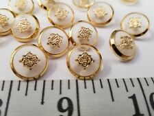 New listing Vintage Buttons Set Of 12 Clear Gold Metal Tuz2747