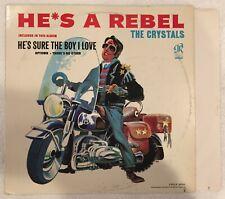 "The Crystals - He's a Rebel - U.S.PRESS ORIG. PHLP 4001 ""BLACK/BLUE"" 1963 VG+"
