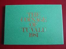 Tuvalu 1981 7 Coin 1 Cent - 1 Dollar Proof Set sealed Case Envelope Royal Mint