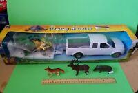 New Ray ATV CAMP ADVENTURE. PICKUP, TRAILER, ATVS. RIDERS, BONUS ANIMALS.  LOOK
