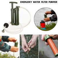 New Camping Hiking Military Emergency Water Filter Purifier Survival Pump